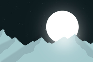 Bright Moon Minimal 4k