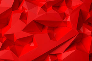 Bright Red Shapes Abstract 5k Wallpaper