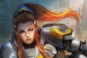 Brigitte Overwatch Fan Art Wallpaper