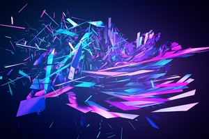 Broken Into Pieces Abstract Wallpaper