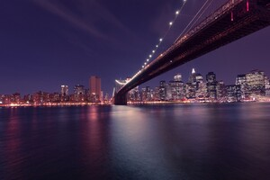 Brooklyn Bridge Manhattan In New York Wallpaper