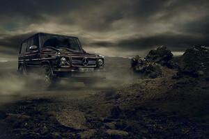 Brown Mercedes Benz G Class
