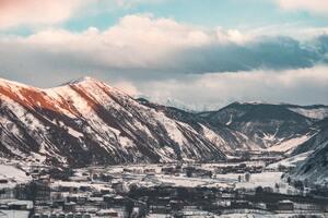 Brown White Mountains Sky 5k
