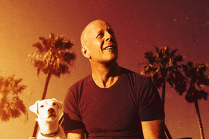 Bruce Willis With Dog In Once Upon A Time In Venice 4k