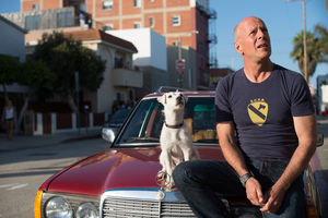 Bruce Willis With Dog In Once Upon A Time In Venice