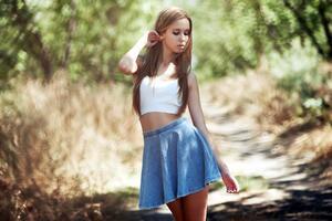 Brunette Girl Skirt