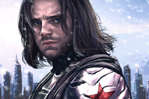 Bucky Barnes The Winter Solider Artwork Wallpaper