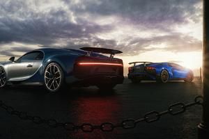 Bugatti Chiron And Lamborghini Huracan