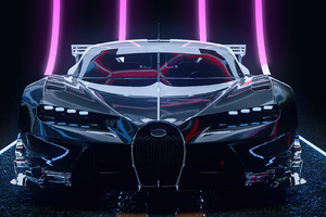 Bugatti Chiron Cgi Artwork 4k