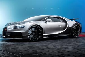 Bugatti Chiron Cgi Front Look 4k Wallpaper