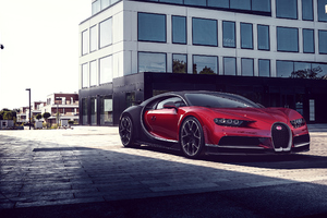 Bugatti Chiron Red Wallpaper