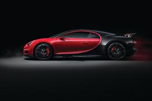 Bugatti Chiron Side View 4k