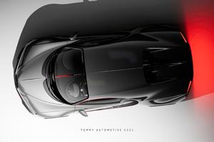 Bugatti Chiron UE4 View From Top 4k