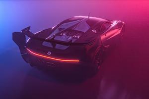 Bugatti Chiron Vision GT Rear 5k Wallpaper