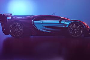 Bugatti Chiron Vision GT Side View 5k Wallpaper