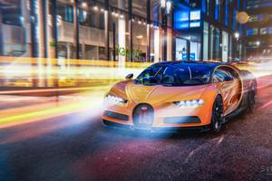 Bugatti In Streets