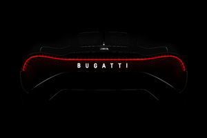 Bugatti La Voiture Noire 2019 Rear Lights Wallpaper
