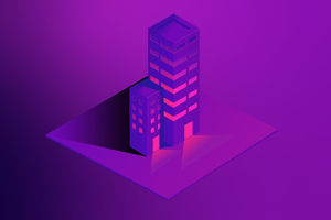 Building Geometric 8k Wallpaper
