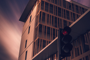 Building Traffic Lights Street Outdoors 4k