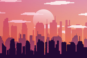 Buildings City Silhouette 10k Wallpaper