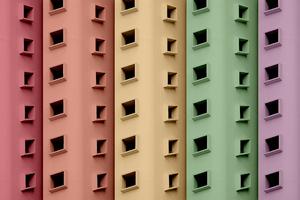 Buildings Colorful Minimal 5k Wallpaper