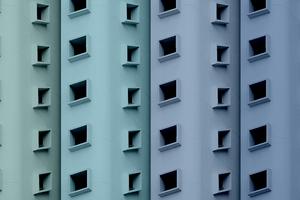 Buildings Colorful Minimal Blue 5k Wallpaper
