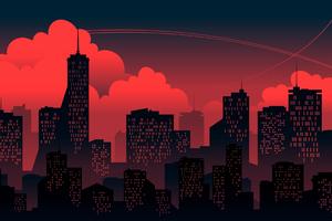 Buildings Dawn 4k