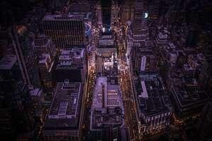 Buildings Top View 8k