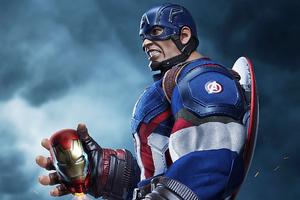 Bulky Captain America Wallpaper