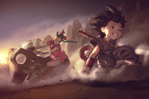 Bulma And Goku Anime 4k Wallpaper