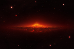 Burning Galaxy 5k Wallpaper