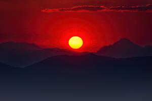 Burning Mountain Sunset 5k Wallpaper