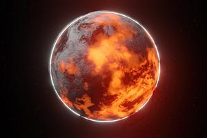 Burning Planet 4k Wallpaper