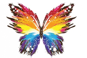 Butterfly Abstract Colorful Wallpaper