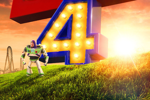 Buzz Lightyear In Toy Story 4 2019 Wallpaper