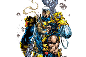 Cable Wolverine Artwork