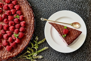 Cake Fruit Pastry Raspberry Wallpaper