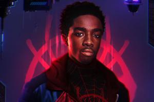Caleb McLaughlin Miles Morales Spider Man Wallpaper