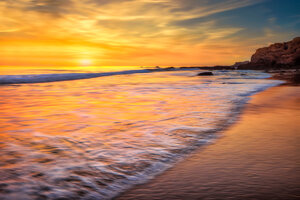 California Ocean New Port Beach Long Exposure 5k Wallpaper