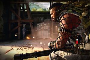 Call Of Duty Black Ops Cold War Jungle Warfare Operator Terrell Wolf Wallpaper