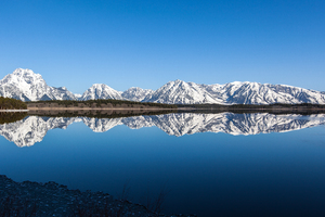 Calm Blue At Grand Teton National Park 4k