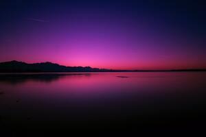 Calm Water Body Pink Evening 4k Wallpaper
