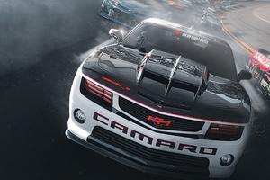 Camaro Track Racing Wallpaper