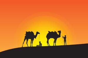 Camel Leaders Silhouette