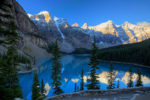 Canada Mountains Parks Lake Moraine 5k Wallpaper