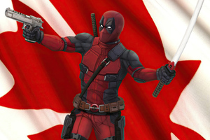 Canadian Deadpool 4k Wallpaper