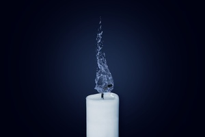 Candle Water Flame Illustration Wallpaper