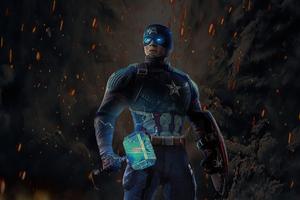 Captain America 2020 Hammer Art Wallpaper