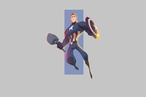 Captain America 4k Minimal Art Wallpaper
