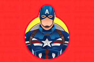 Captain America 4k Minimalism 2020 Wallpaper